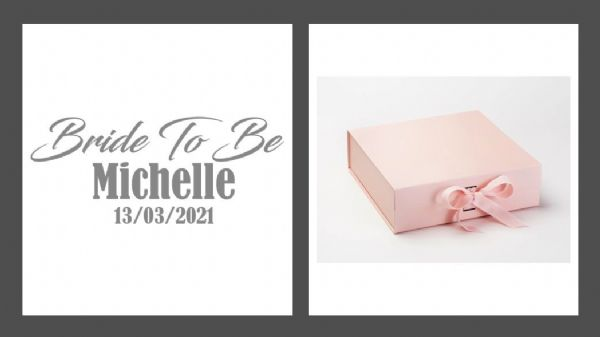 Bride To Be Large Luxury Personalised Gift Box